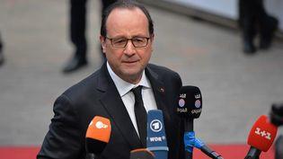 François Hollande au sommet européen à Bruxelles (Belgique), le 19 mars 2015. ( ANADOLU AGENCY / AFP)
