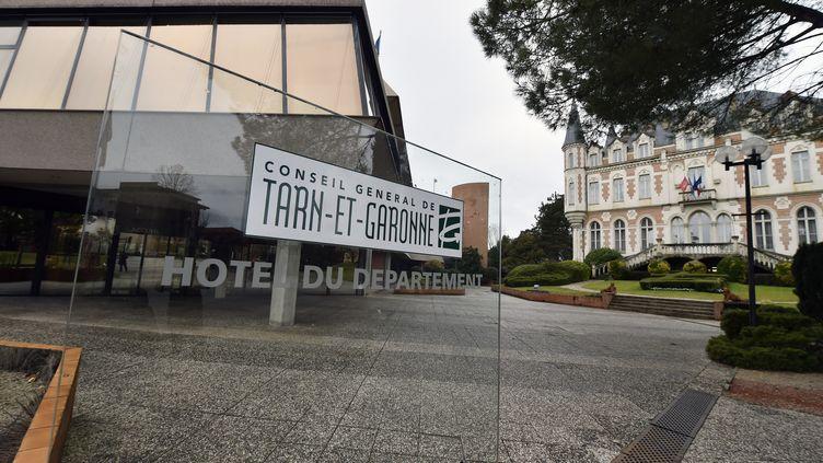 La devanture du conseil général de Tarn-et-Garonne, à Montauban, le 2 mars 2015. (PASCAL PAVANI / AFP)