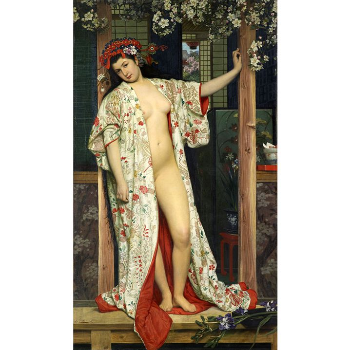 "James Tissot, ""Japonaise au bain"", 1864, France, Dijon, Musée des Beaux-Arts de Dijon (© Musée des Beaux-Arts de Dijon/François Jay)"