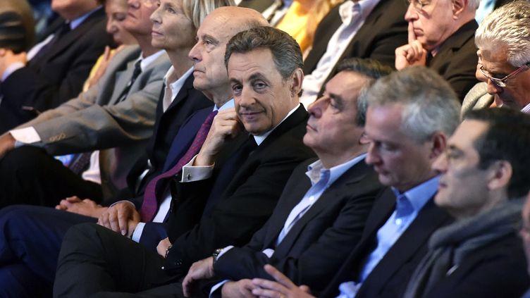 Le président des Républicains, Nicolas Sarkozy, le 27 septembre 2015. (DOMINIQUE FAGET / AFP)