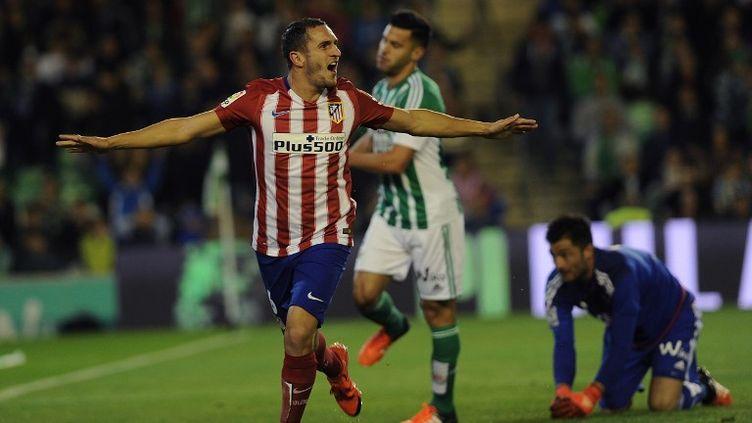 Grâce à Koke, l'Atletico Madrid s'est emparé de la deuxième place de Liga aux dépens du Real Madrid. (CRISTINA QUICLER / AFP)