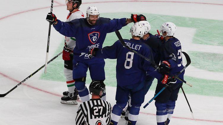 L'équipe de France de hockey sur glace n'est plus qu'à une victoire d'une qualification pour les JO de Pékin. (FFHG)