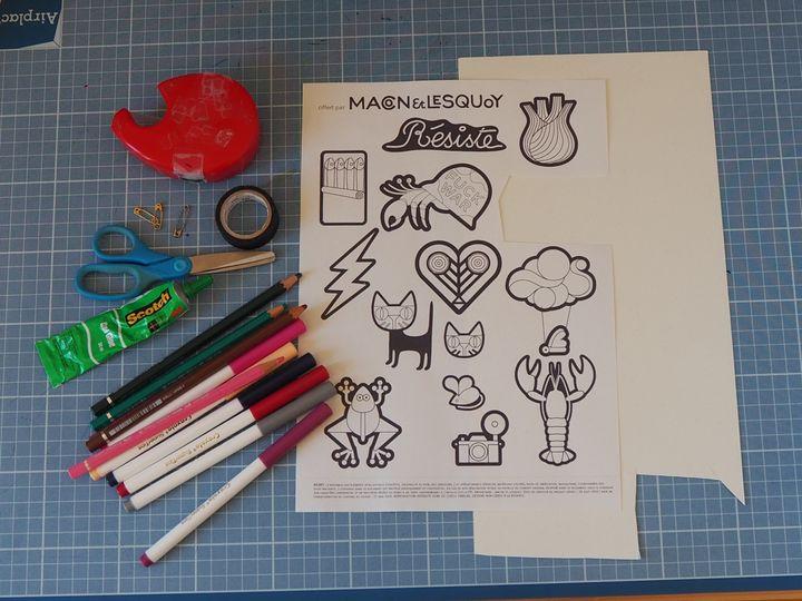 Le mode d'emploi pour fabriquer une broche en carton, versionMacon&Lesquoy (Macon&Lesquoy)