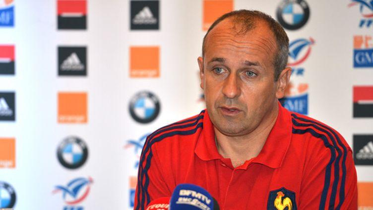 Le sélectionneur de l'équipe de France, Philippe Saint-André (PETER PARKS / AFP)