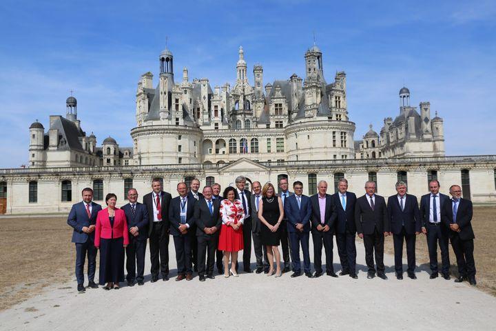 Domaine national de Chambord ( Loir-et-Cher ), le 2 septembre 2016. Séminairedes ministres européensde l'agriculture au sujet de la PAC (MAXPPP)