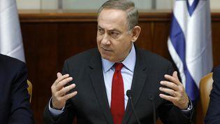 Benjamin Netanyahu, Premier ministre israélien, le 16 mars 2017 à Jérusalem. (AMIR COHEN / POOL)