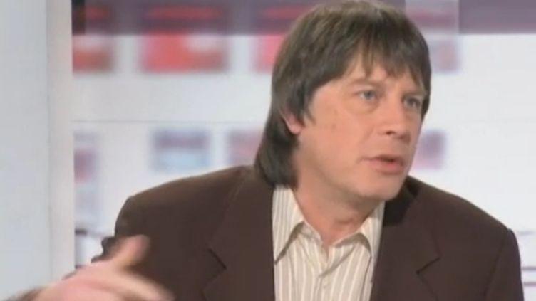 Bernard Thibault, secrétaire général de la CGT, le mercredi 4 janvier sur France 2. (FTVi / FRANCE 2)