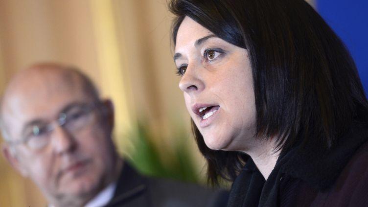 La ministre de l'Artisanat, du Tourisme et du Commerce, Sylvia Pinel, lors d'une conférence de presse en décembre 2012, à Paris. (BERTRAND GUAY / AFP)