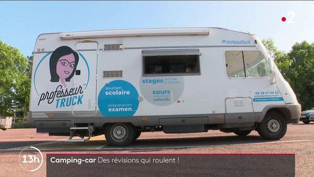 Éducation : un camping-car aménagé en salle de classe pour proposer des cours particuliers dans les zones rurales