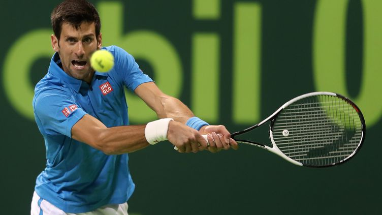 Novak Djokovic en difficulté (KARIM JAAFAR / AFP)