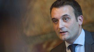 Le vice-président du Front national, Florian Philippot, lors d'une conférence de presse à Paris, le 26 juin 2015. (  MAXPPP)