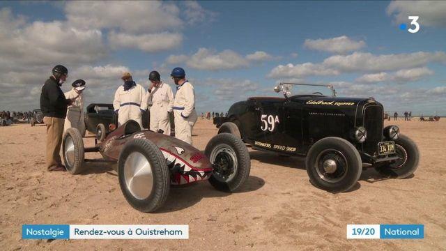 Ouistreham : une course nostalgique fait vrombir les voitures d'après-guerre