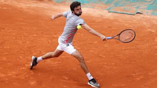 Gilles Simon entre dans le tournoi à Roland-Garros. (LAURENT LAIRYS / LAURENT LAIRYS)