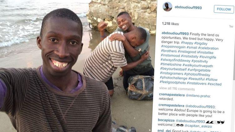 L'histoire fictive d'un migrant tentant de traverser la Méditerranée, publiée en juillet 2015 sur Instagram. (ABDOUDIOUFF1993 / INSTAGRAM)