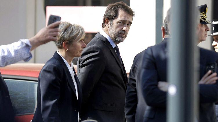 Le ministère de l'Intérieur, Christophe Castaner, le 4 avril, à Roman-sur-Isère. (ALEX MARTIN / MAXPPP)