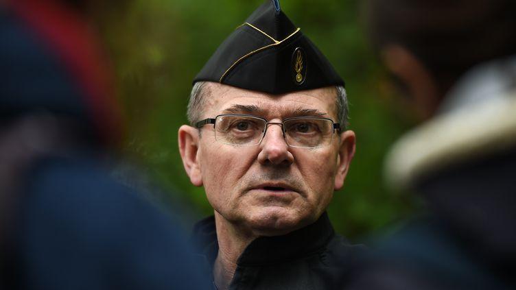 Le généralRichard Lizurey,le patron de la gendarmerie nationale, à Notre-Dame-des-Landes (Loire-Atlantique), le 17 mai 2018. (GUILLAUME SOUVANT / AFP)