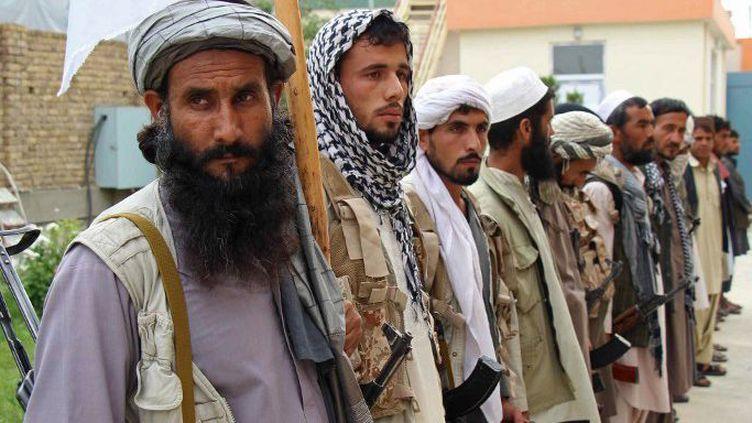 D'anciens combattants talibans. (AFP/ Nasir Waqif)