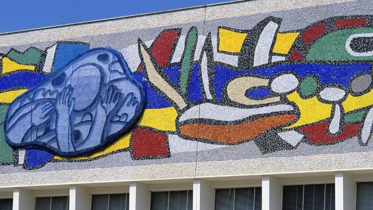 Scintillante et colorée, l'oeuvre monumentale de 400 m2 imaginée par Fernard Léger a retrouvé son éclat après un an de restauration  (DAN SHANNON / ONLY FRANCE)