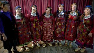 "Les grand-mères russes du groupe ""Buranovskiye Babushki"" défendront la Russie à l'Eurovision  (Natalia Kolesnikova /  AFP)"