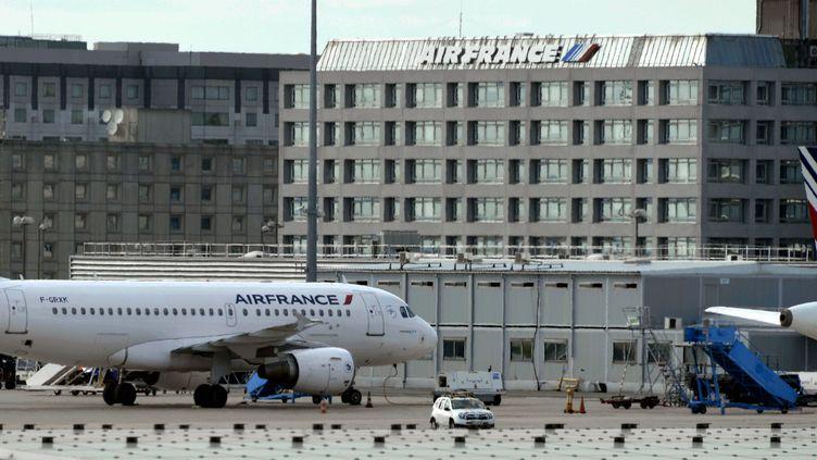 Deux avions Airbus de la compagnie Air France sur le tarmac de l'aéroport Roissy-Charles de Gaulle. (ALEXANDRE MARCHI, /NCY / MAXPPP)