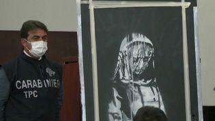 Italie : un célèbre tableau de Banksy, volé l'an dernier, retrouvé dans une ferme des Abruzzes (FRANCE 3)