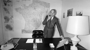 Valérie Giscard d'Estaing, le 5 mars 1981. (GEORGES GOBET / AFP)