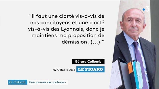 Gérard Collomb : le ministre maintient sa démission après une journée de confusion