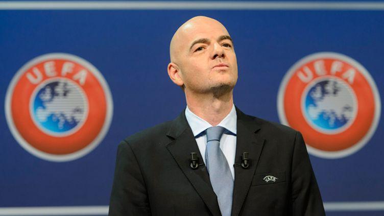 (Le secrétaire général de l'UEFA Gianni Infantino se lance dans la course à la présidence de la Fifa, avec le soutien du comité exécutif, soit le gouvernement du foot européen, a indiqué lundi l'UEFA © Maxppp)