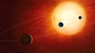 Vue d'artiste d'un système solaire imaginaire. (MGA / SCIENCE PHOTO LIBRARY / AFP)