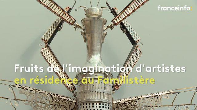 Des insectes géants créés à partir d'instruments s'exposent au Familistère de Guise
