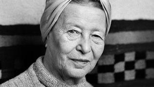 Simone de Beauvoir à Paris en 1983  (Michèle Bancilhon / AFP)