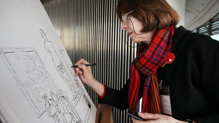 La dessinatrice Posy Simmonds en 2010  (PETER MACDIARMID / GETTY IMAGES EUROPE / AFP)