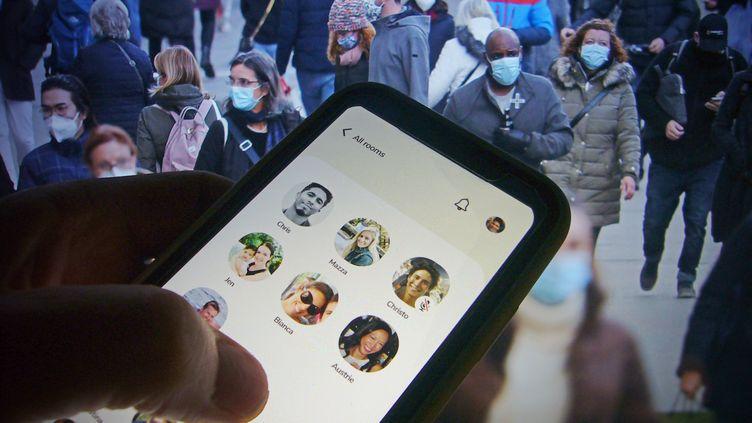 L'écran d'accueil de l'application Clubhouse (illustration) (FRANK HOERMANN/SVEN SIMON / SVEN SIMON)