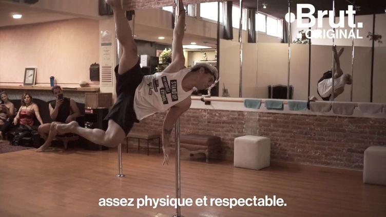"""VIDEO. """"Pas considérée comme une activité assez physique et respectable"""", ils veulent briser les stéréotypes sur la pole dance (BRUT)"""