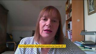 La vaccinologue Marie-Paule Kieny, sur franceinfo le 17 novembre 2020. (FRANCEINFO / RADIOFRANCE)