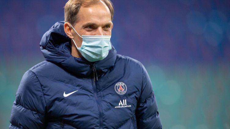 Thomas Tuchel, l'entraîneur du Paris Saint-Germain. (ELMAR KREMSER/SVEN SIMON / SVEN SIMON)