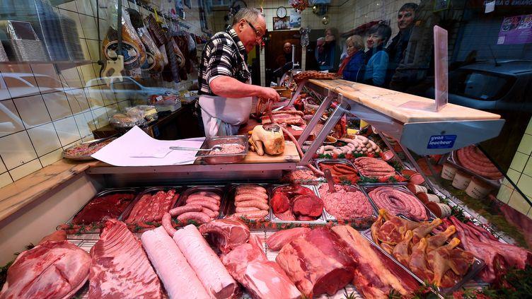 L'étalage d'une boucherie à Lille (Nord), le 23 décembre 2014. (MAXPPP)