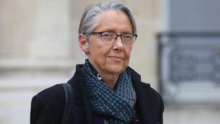 La ministre Elisabeth Borne quitte l'Elysée, le 6 février 2019, à Paris. (LUDOVIC MARIN / AFP)
