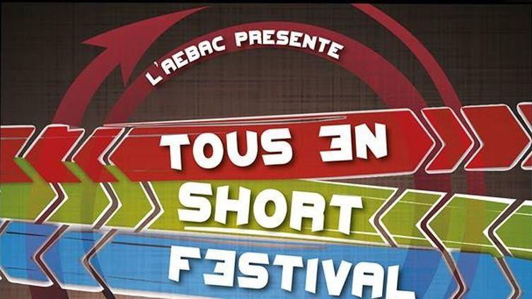 """Affiche 2015 du festival """"Tous en short"""" qui récompense les étudiants en BTS audiovisuel  (Festival Tous en short)"""