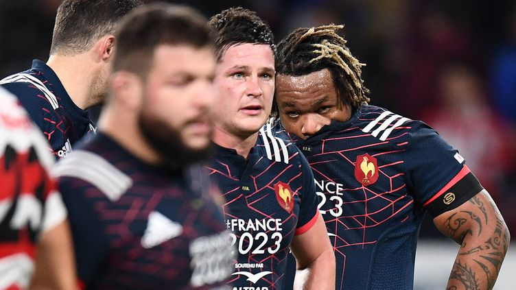 La déchéance, la consternation se lient sur le visage des joueurs du XV de France.