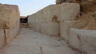 Les vestiges de la tombe du pharaonSobekhotep I,le 1er janvier2014à Abydos, en Egypte. (SCA / AFP)