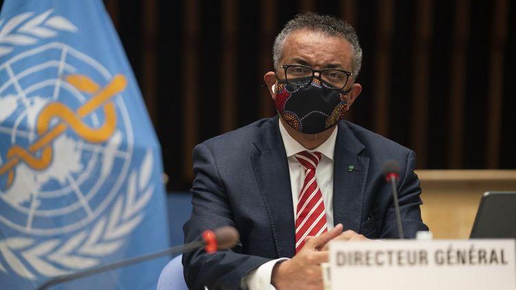 Ledirecteur général de l'Organisation mondiale de la santé (OMS),Tedros Adhanom Ghebreyesus, à Genève, en Suisse, le 5octobre 2020. (CHRISTOPHER BLACK / WORLD HEALTH ORGANIZATION / AFP)