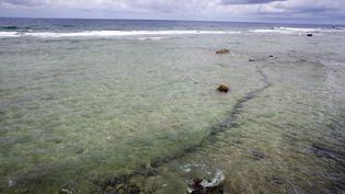 L'atoll de Mururoa, en Polynésie, où la France a mené des essais nucléaires jusqu'en1996. (GREGORY BOISSY / AFP)