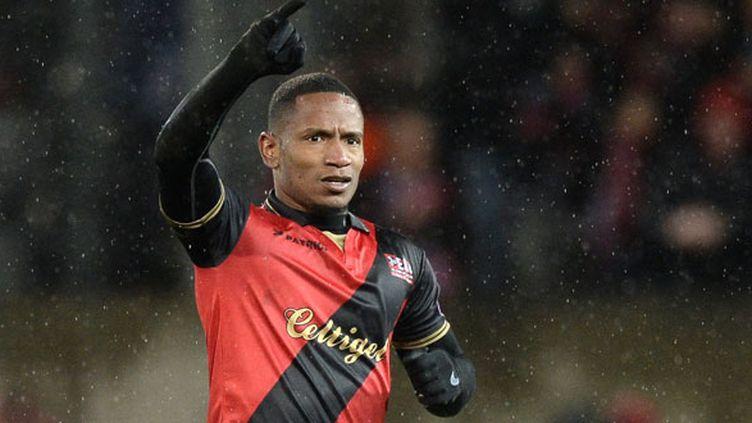 L'attaquant de l'En Avant Guingamp, Claudio Beauvue&