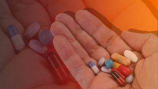 Pourquoi le risque d'une pénurie de médicaments est réel. (RICHARD VILLALON / MAXPPP / STEPHANIE BERLU / RADIO FRANCE)