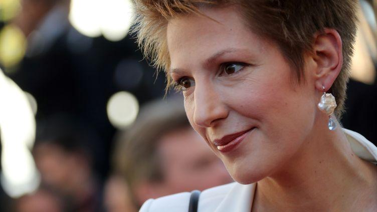 La journaliste Natacha Polony, le 20 mai 2016, lors du Festival de Cannes (Alpes-Maritimes). (VALERY HACHE / AFP)