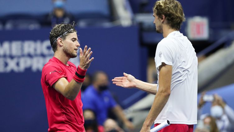 Dominic Thiem et Alexander Zverev. (MATTHEW STOCKMAN / GETTY IMAGES NORTH AMERICA)