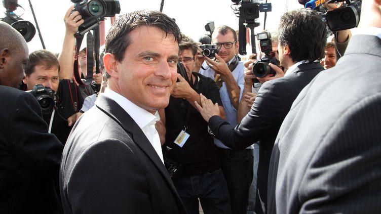 Le ministre de l'Intérieur Manuel Valls à l'université d'été du PS à La Rochelle (Charente-Maritimes), le 25 août 2012. (ALAIN ROBERT / APERCU / SIPA)