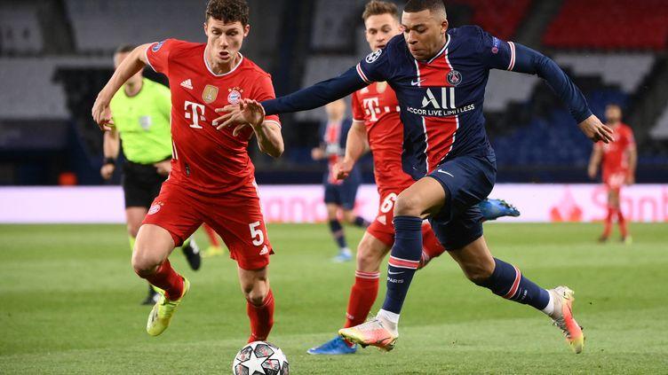 Kylian Mbappé (PSG) face au Bayern Munich (FRANCK FIFE / AFP)