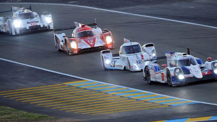 La Toyota N.7 mène la danse au Mans (JEAN-FRANCOIS MONIER / AFP)